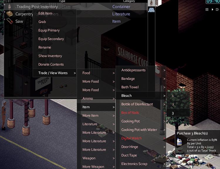 Advanced Trading Post Project Zomboid mod