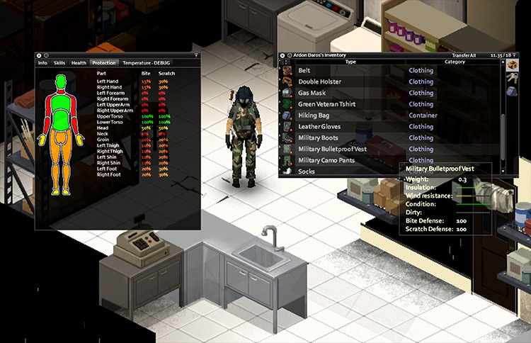 Armored Vests Project Zomboid mod screenshot