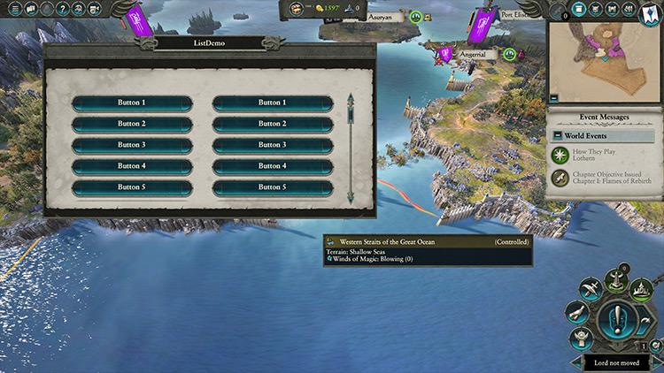 UI Modding Framework Total War: Warhammer 2 mod
