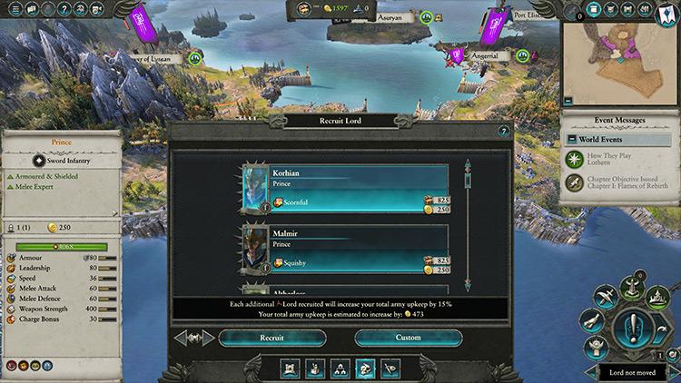 Custom Lord Creation mod for Total War: Warhammer 2
