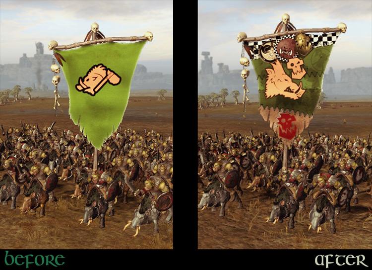 Immersive Battle Banners mod for Total War: Warhammer 2