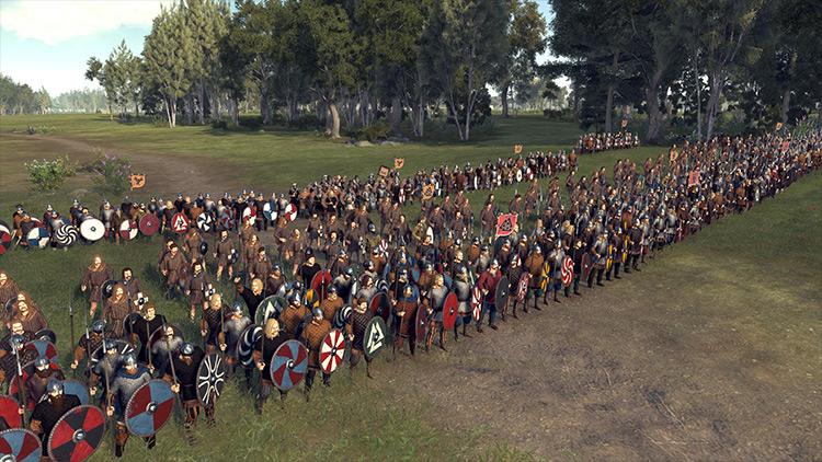 Shieldwall Overhaul + The Saxon Update Total War Saga: Thrones of Britannia mod
