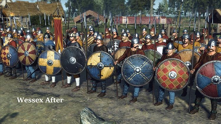 Immersive Shields and Armies Total War Saga: Thrones of Britannia mod