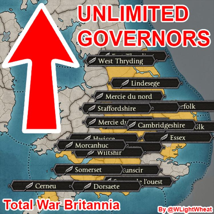 Unlimited Governors Total War Saga: Thrones of Britannia mod screenshot