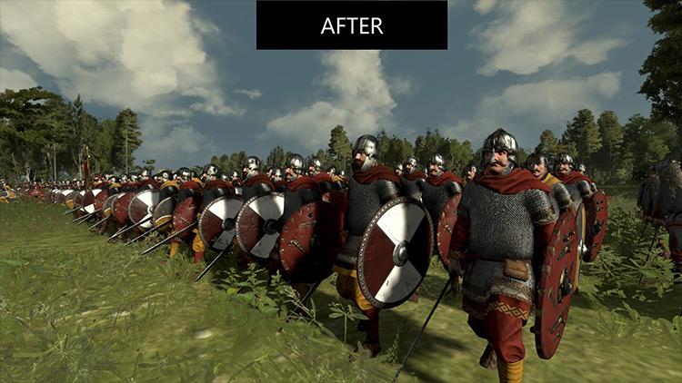 Shields Down While Marching mod for Total War Saga: Thrones of Britannia