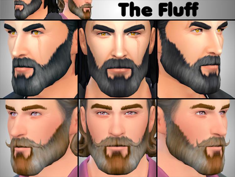 The Fluff Beard Sims 4 CC