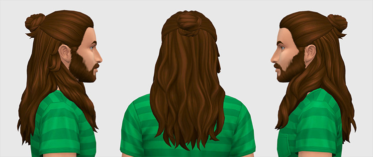 Maze Hair Sims 4 CC screenshot