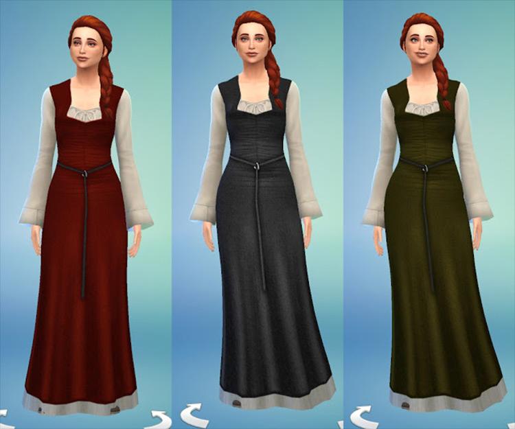 Celtic Dress Sims 4 CC screenshot