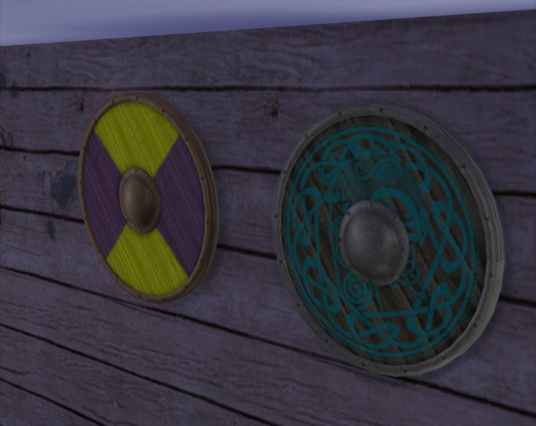 Vikings Shield Sims 4 CC