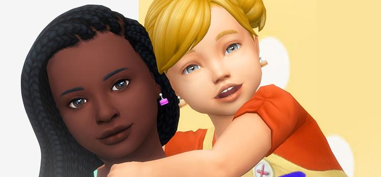 Macaron toddler earrings custom content