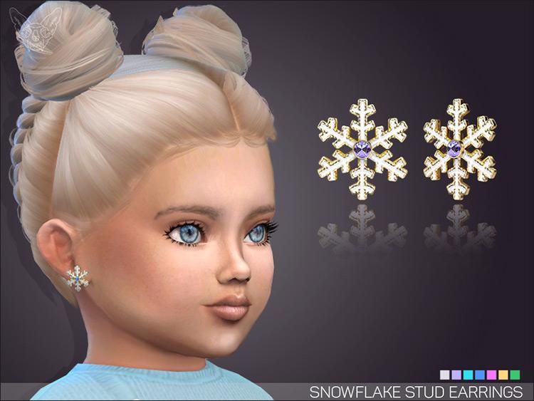 Snowflake Stud Earrings Sims 4 CC