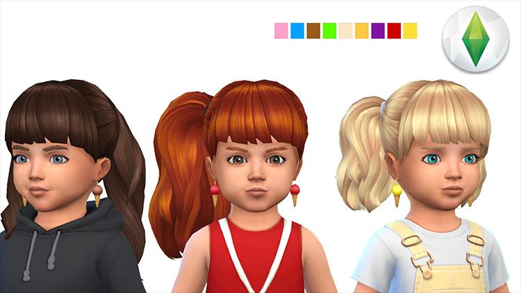 Ice Cream Earrings CC for Sims 4