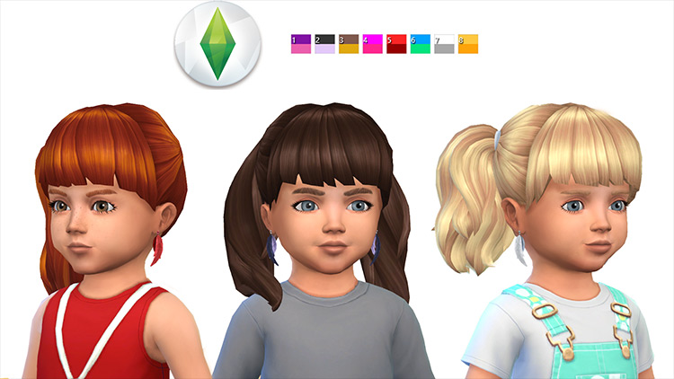 Feather Earrings Sims 4 CC