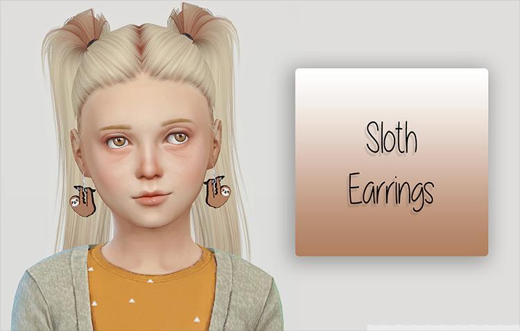 Sloth Earrings Sims 4 CC screenshot