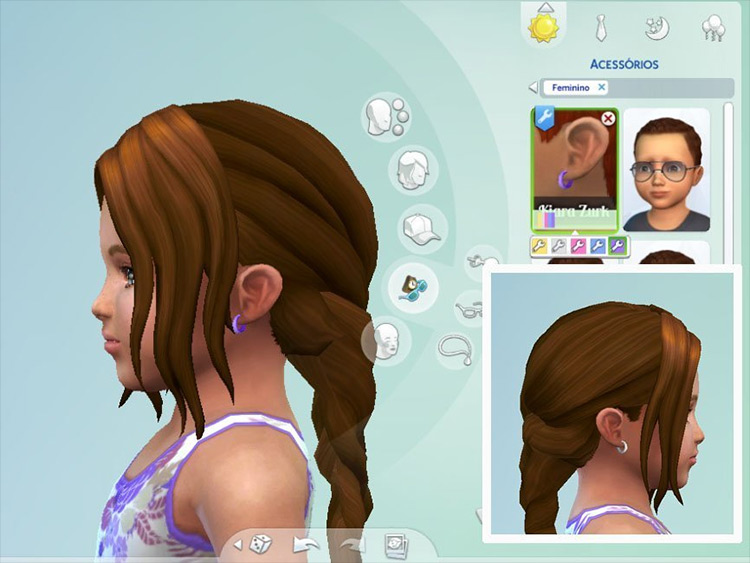 Small Hoop Earrings CC for Sims 4