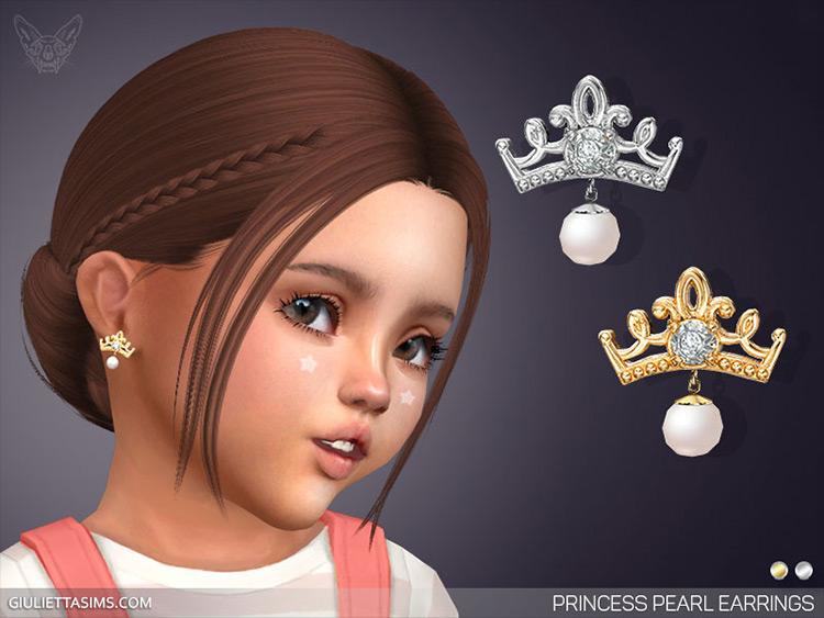 Princess Earrings CC for Sims 4