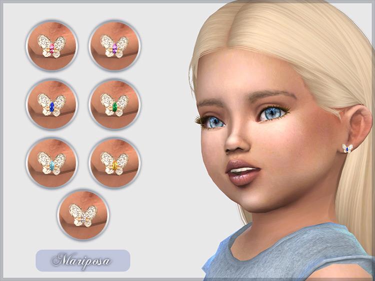 Mariposa Earrings Sims 4 CC screenshot