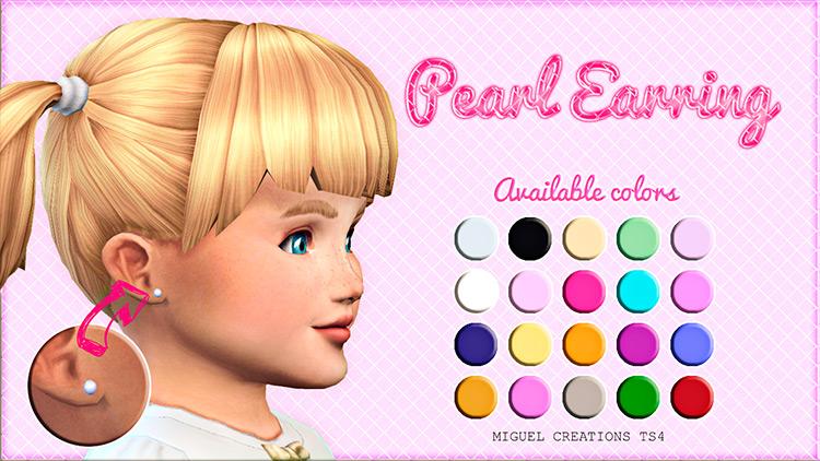 Pearl Earrings Sims 4 CC