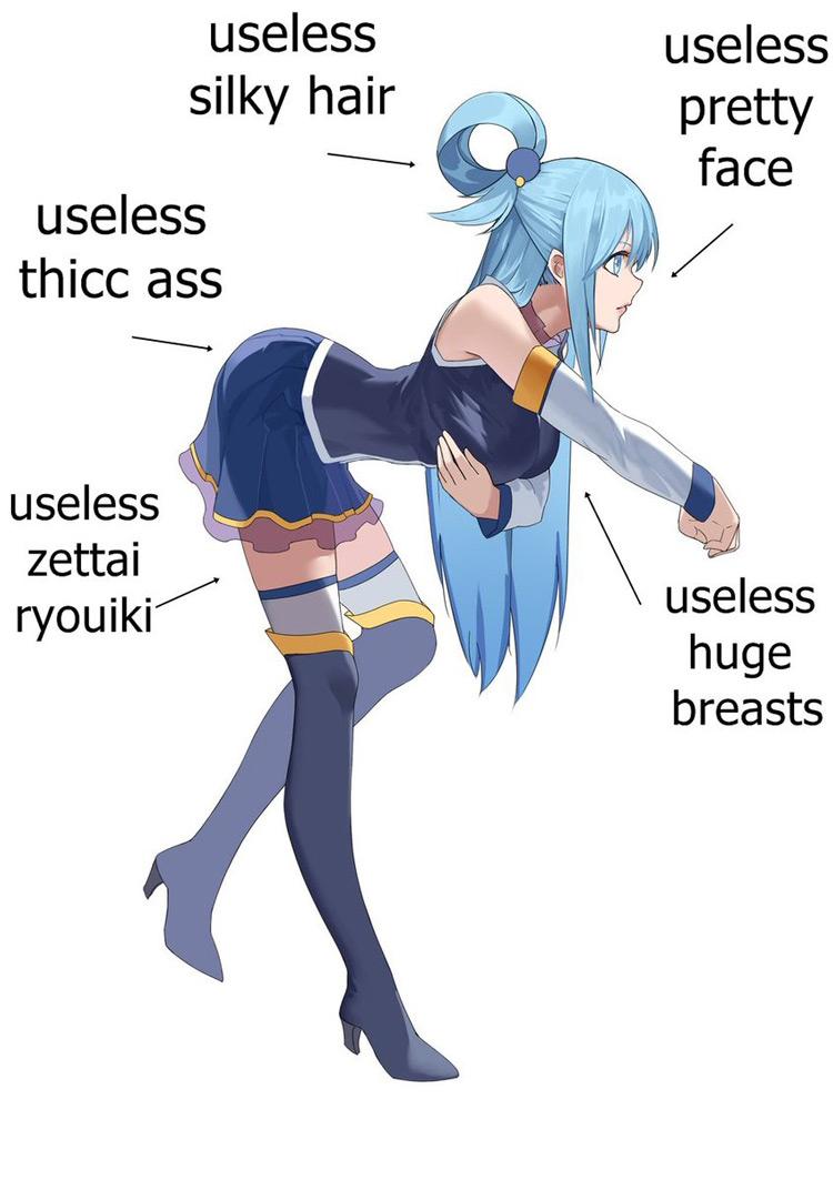 Useless anime girl meme