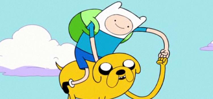 Finn and Jake fist bump
