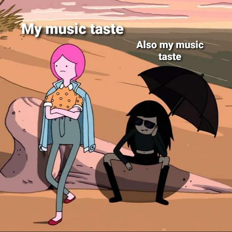PB and Marceline music taste meme