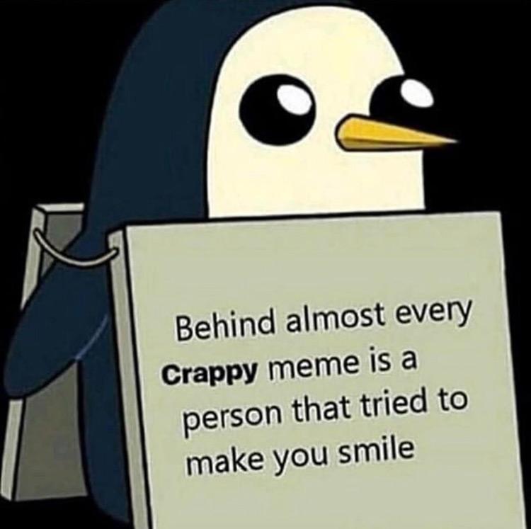 Penguin Adventure Time meme
