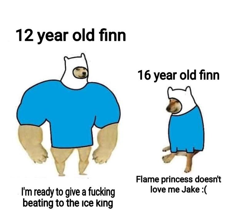 12 year old finn vs 16 year old finn