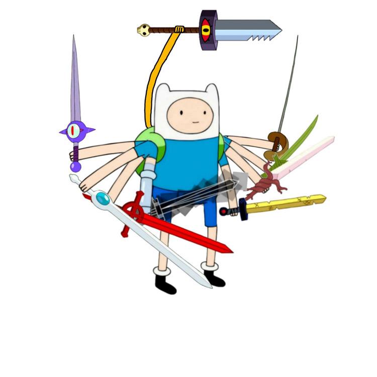 Finn using sword meme