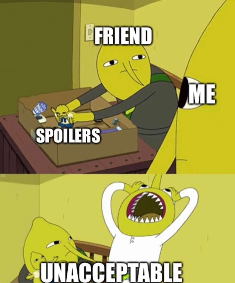 Spoilers? Unacceptable Lemongrab meme