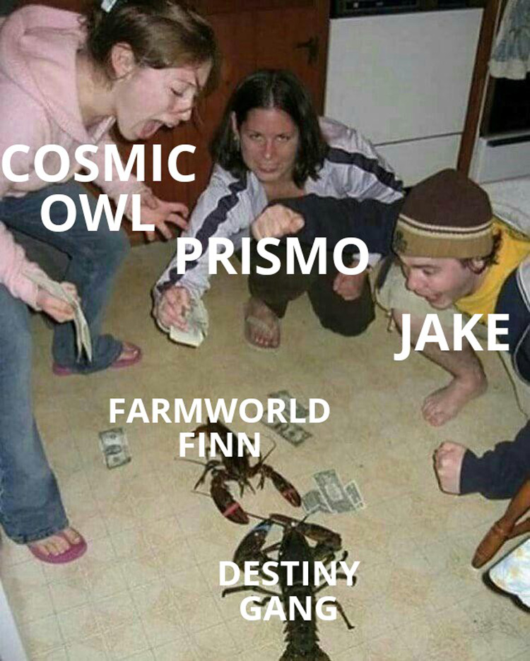 Cosmic owl Prismo meme