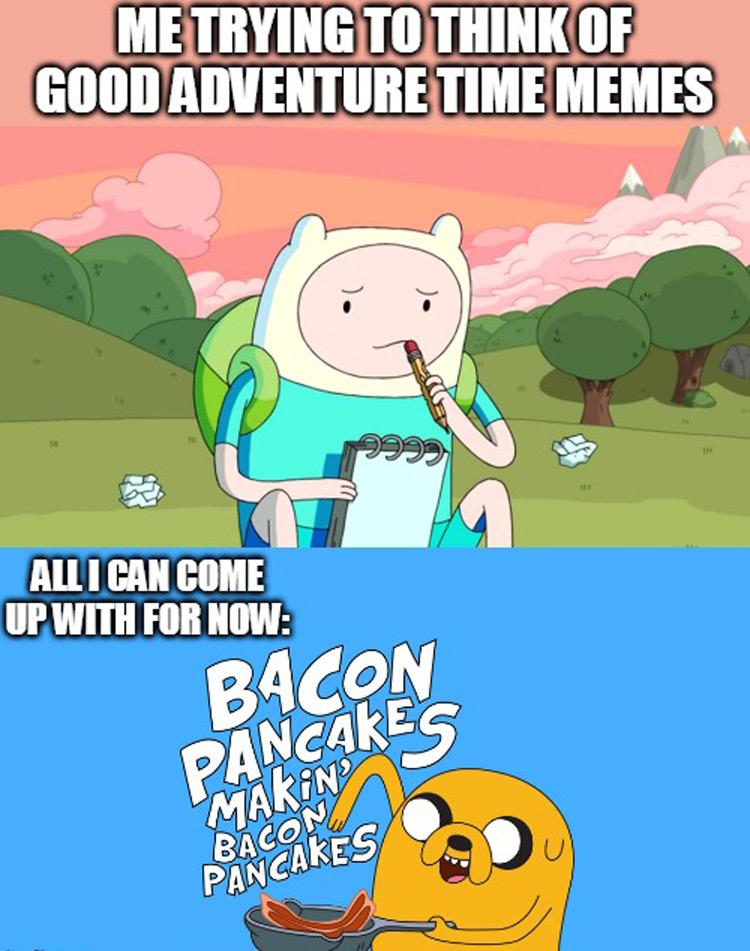 Bacon pancakes meme