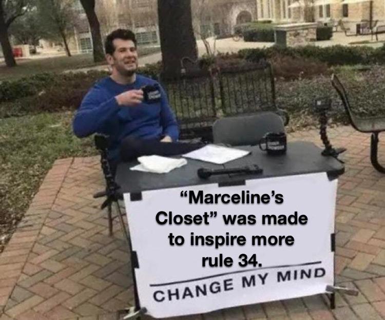 Marcelines Closet joke meme