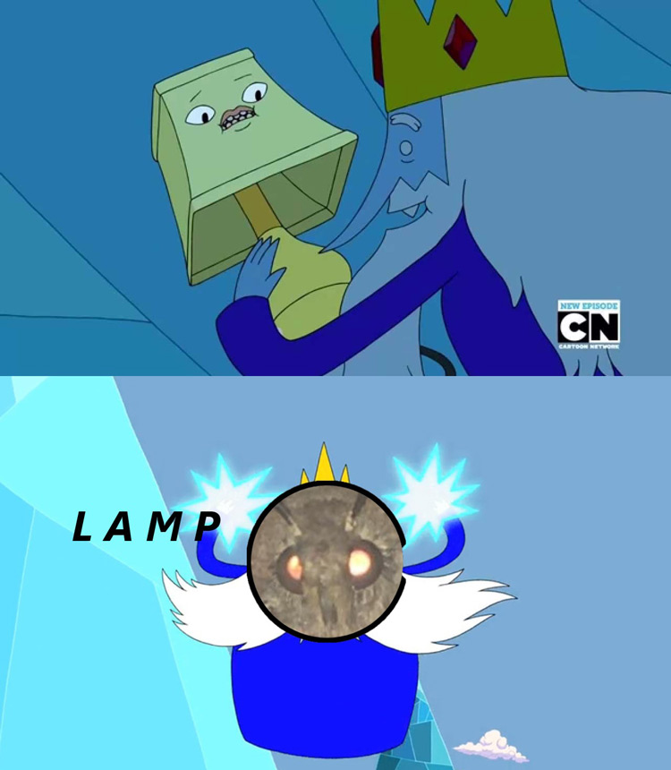 Ice King and Lamp meme