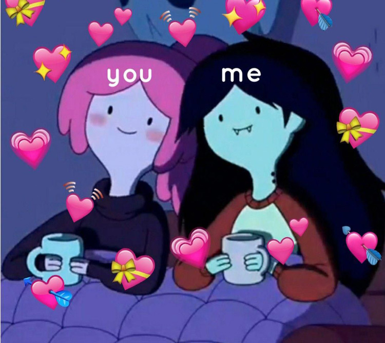 Me and You - Wholesome Marceline and PB meme