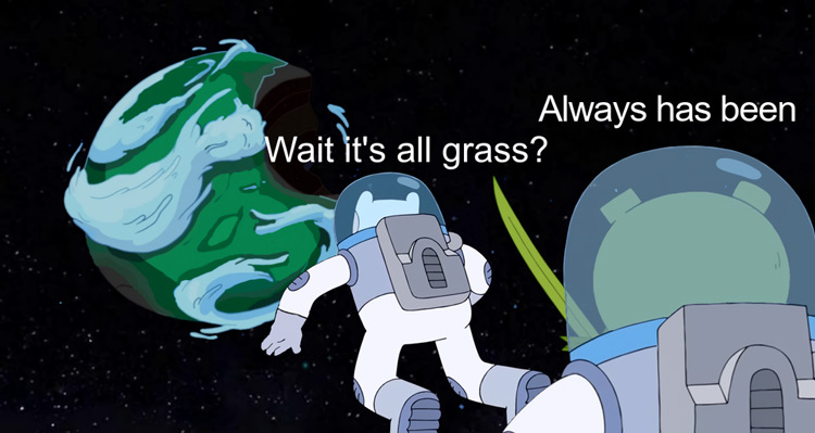 Wait its all grass? Always has been crossover