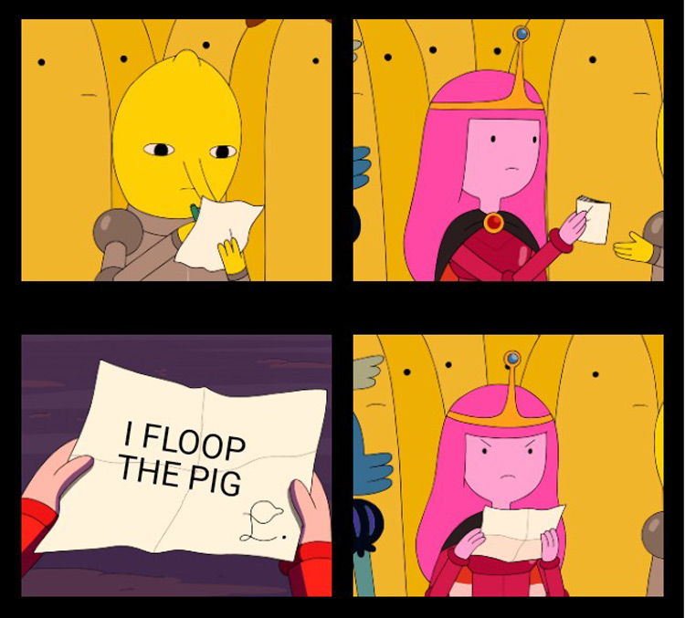 I floop the pig Princess Bubblegum