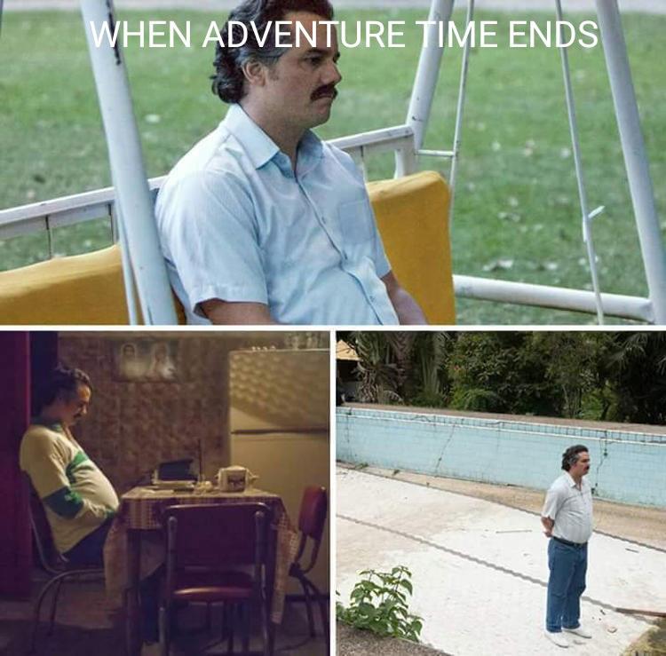 When Adventure Time ends meme
