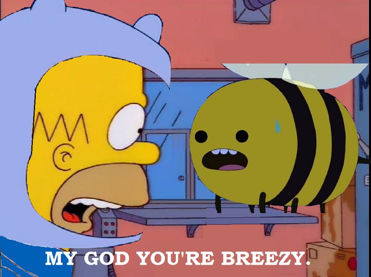 Youre breezy Simpsons crossover meme