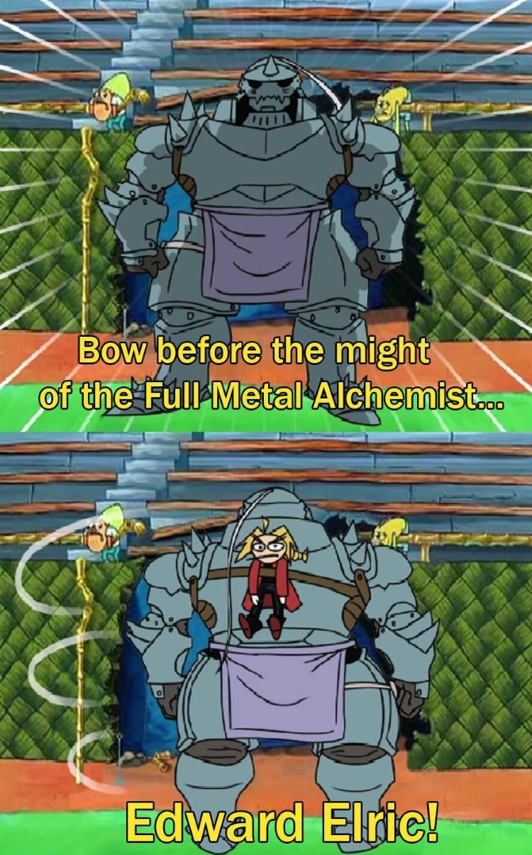 Fullmetal Al Elric joke SpongeBob crossover meme