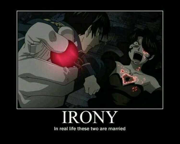 Irony, in real life these two are married FMA meme