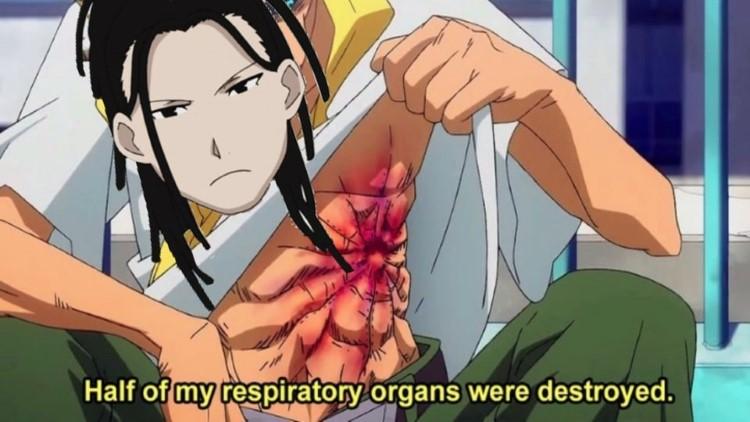 Half of my respiratory organs were destroyed meme