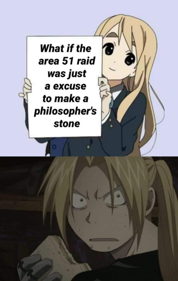 What if the area 51 raid was an excuse meme