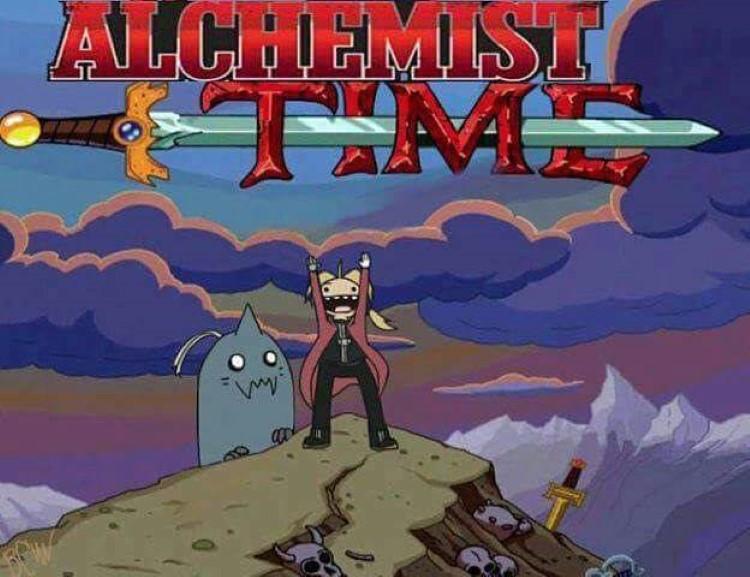 Adventure time, Fullmetal Alchemist Time meme crossover