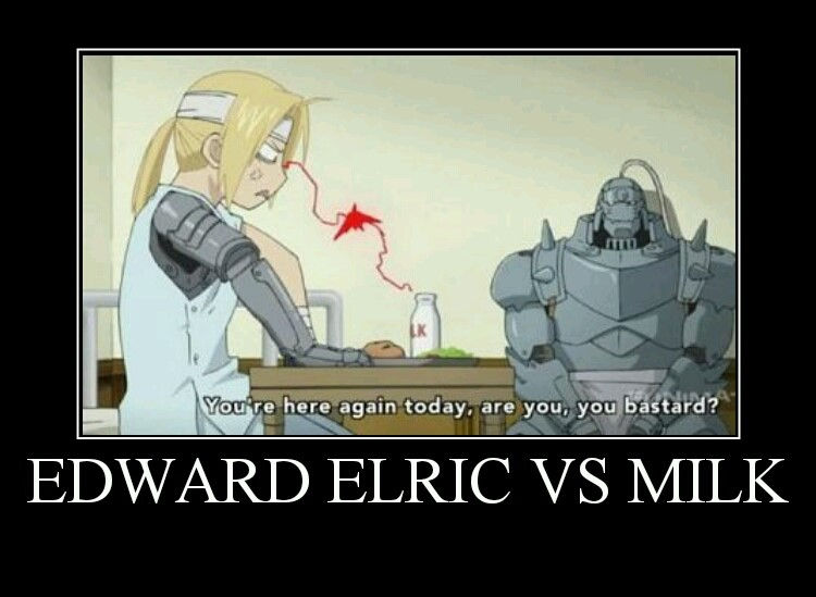 Edward Elric vs Milk meme