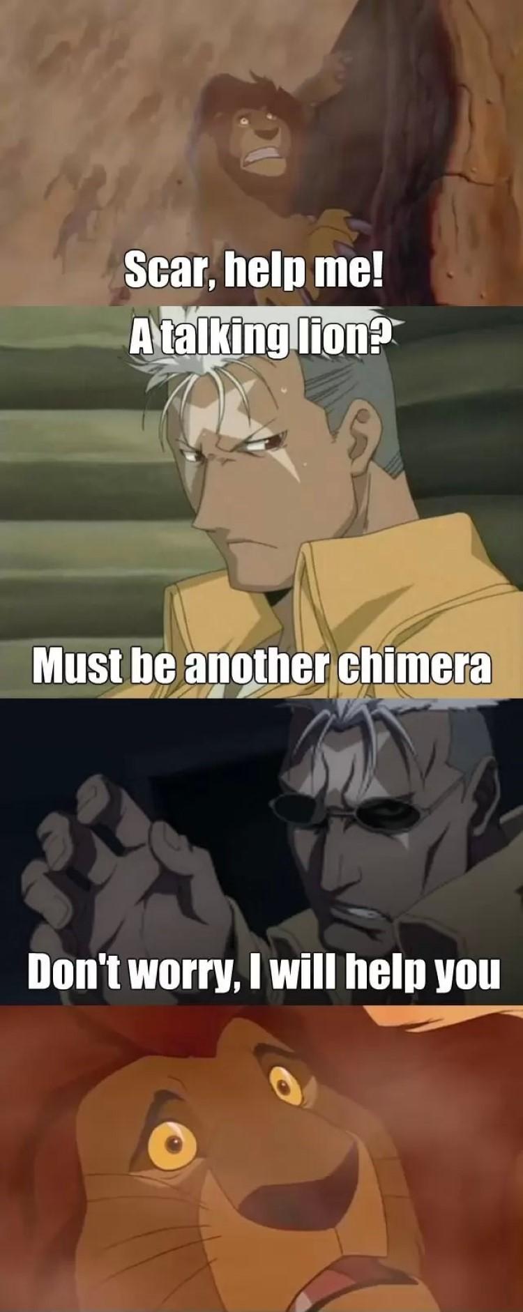 Scar help me! meme