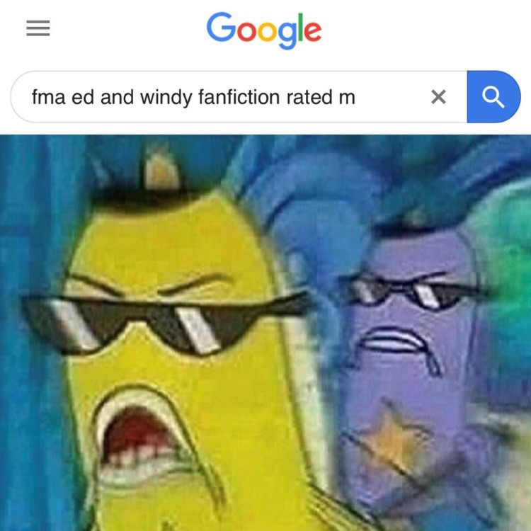 FMA Ed Winry Fanfic - SpongeBob police meme