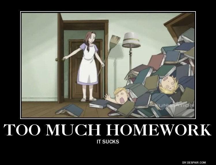 Too much homework FMA Ed Al Elric