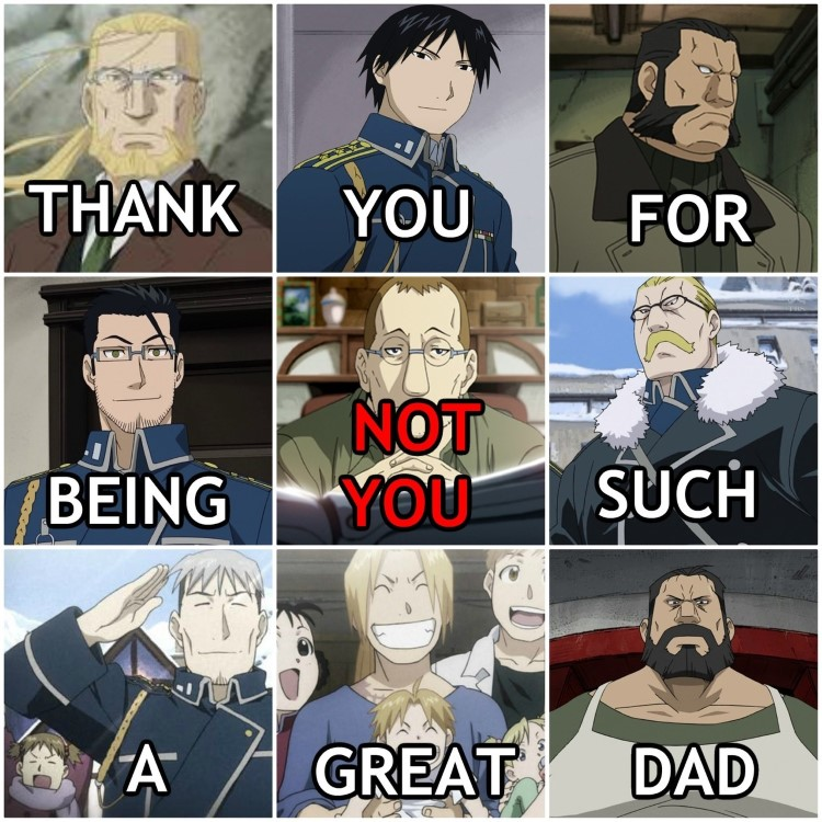 Thank you for being a great dad FMA meme