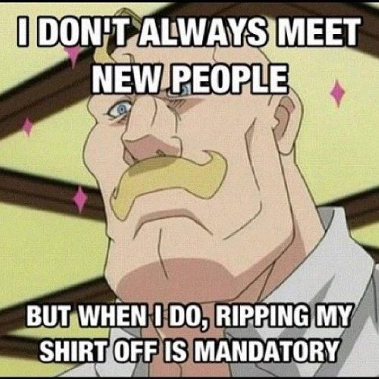 I dont always meet new people Armstrong meme