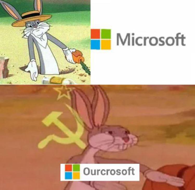 Microsoft? No, Ourcrosoft meme